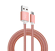 cheap -Micro USB USB Cable Adapter Quick Charge Cable For Samsung Huawei Nokia Xiaomi HTC 100cm Stainless steel