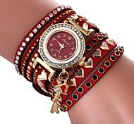 Недорогие -Жен. Часы-браслет Китайский Повседневные часы / Милый / Имитация Алмазный PU Группа Heart Shape / Богемные Черный / Белый / Синий