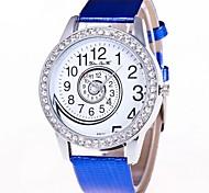 Недорогие -Жен. Наручные часы Китайский Секундомер / Милый / Крупный циферблат Кожа Группа Кольцеобразный / Элегантный стиль Черный / Белый / Синий