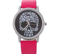 Недорогие -Xu™ Жен. Наручные часы Китайский Творчество / Череп / Крупный циферблат PU Группа Цветы / Мода Черный / Белый / Синий
