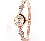 cheap -Women's Bracelet Watch Chinese Chronograph / Casual Watch Alloy Band Fashion / Minimalist Silver / Rose Gold