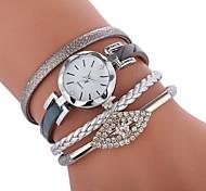 Недорогие -Жен. Часы-браслет Китайский Повседневные часы / Милый / Имитация Алмазный PU Группа Богемные / Мода Черный / Белый / Серый