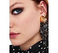 cheap -Women's Tassel Drop Earrings - Tassel, European, Fashion Pink / Light Brown / Royal Blue For Party / Evening / Work