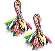 cheap -20 Pieces and 5 Colors Test Lead Set & Alligator Clips