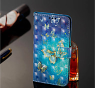 cheap -Case For Nokia Nokia 7 Plus / Nokia 6 2018 Wallet / Card Holder / with Stand Full Body Cases Butterfly Hard PU Leather for Nokia 7 Plus /