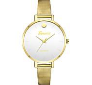 Недорогие -Geneva Жен. Наручные часы Китайский Новый дизайн / Повседневные часы / Cool сплав Группа На каждый день / Мода Золотистый