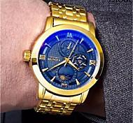 cheap -Men's Mechanical Watch Automatic self-winding Gold 30 m Water Resistant / Waterproof Casual Watch Analog Luxury Fashion fancy - White Black Blue