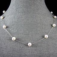 Жемчужные ожерелья Жемчуг Одинарная цепочка Жемчуг бижутерия Бижутерия Назначение