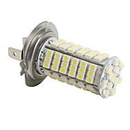 H7 3528 SMD 102-LED hvid lys pære til bil (DC 12V)