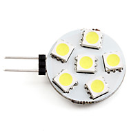 2w g4 led spotlight 6 smd 5050 150lm blanco natural 2700k dc 12v