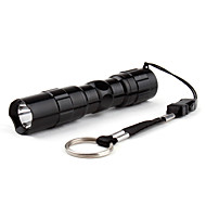 cheap Flashlights, Lanterns & Lights-LED Flashlights / Torch LED 50lm 1 Mode Super Light / Small Size / Compact Size Everyday Use / Traveling Black