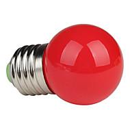 olcso LED gömbbúrás izzók-1 W 80-100 lm E26/E27 LED gömbbúrás izzók G45 1 led Nagyteljesítményű LED Piros AC 220-240V