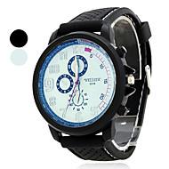 Pánské Náramkové hodinky japonština Křemenný Pryž Černá Analogové dámy Přívěšky - Bílá Modrá