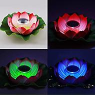 abordables Luces de camino-Cambio de color de energía solar flotante Lotus Flower Garden Pool y lámpara Noche