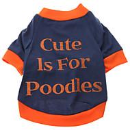 저렴한 -강아지 티셔츠 강아지 의류 문자와 숫자 면 코스츔 제품 모든계절 & 가을