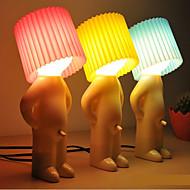 abordables EU Almacén-diseño tímido muchacho blanco cálido Lámpara de mesa LED (colores surtidos)