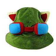 Hat/Kasket Inspireret af LOL Teemo Anime / Videospil Cosplay Tilbehør Kasket / Hat Grøn Polar Fleece Mand