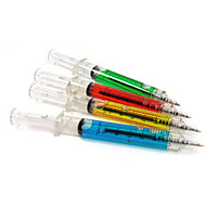 주사기 펜 주사 바늘 튜브 볼펜 의사 간호사 재미 (임의의 색)
