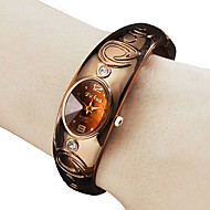 voordelige Modieuze horloges-Dames Modieus horloge Polshorloge Armbandhorloge Kwarts Band Bangle armband Brons