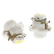 cheap LED Car Bulbs-B8.4 0.5W 2x3528SMD White Light LED Bulb for Car Instrument Lamp (DC 12V, 1-Pair)