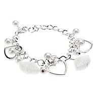 preiswerte -Damen Bettelarmbänder Liebe Perle Kupfer Aleación Herz LOVE Schmuck Weihnachts Geschenke Hochzeit Modeschmuck Silber