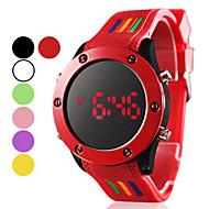Недорогие Мужские часы-Муж. Спортивные часы Цифровой LED силиконовый Группа Кулоны Черный Белый Красный Зеленый Розовый Фиолетовый Желтый