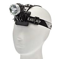 LED懐中電灯 ヘッドランプ ヘッドライト LED 1000 lm 3 モード Cree XM-L T6 のために キャンプ/ハイキング/ケイビング 日常使用 サイクリング 狩猟 ブラック グレー
