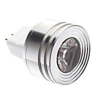 baratos Lâmpadas de Foco de LED-1w gu5.3 (mr16) levou holofote mr11 1 50-80lm branco quente 3000k dc 12v