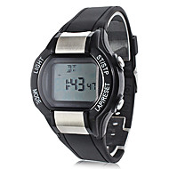 Unisex Calorie Counter Black Rubber Band Digital Wrist Watch with Heart Rate Monitor Cool Watch Unique Watch