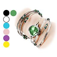 cheap Watch Deals-Women's Quartz Bracelet Watch Hot Sale Alloy Band Fashion Bangle Silver