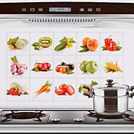 75x45cm owoce& warzywa odporne na gorąco wzór naklejki kuchnia ściana wodoodporny odporny na olej