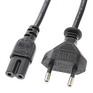 お買い得  -EU AC電源ケーブルPC /ラップトップのための2ラウンドピンプラグ(1.4メートル)