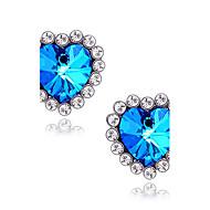 お買い得  -女性用 合成サファイア スタッドピアス  -  イミテーションダイヤモンド ハート, 星形, 幸福 ぜいたく ブルー 用途 日常