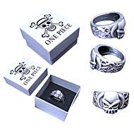 voordelige Cosplay & Kostuums-Sieraden geinspireerd door One Piece Portgas D. Ace Anime Cosplay Accessoires Ring Zilver Legering Mannelijk