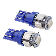 abordables Luces Traseras de Coche-SO.K 2pcs T10 Coche Bombillas SMD 5050 Luz de Intermitente For Universal