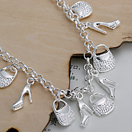 Shoes And Bags Silver Bracelet