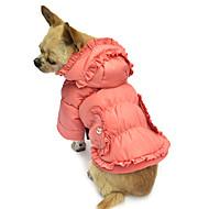 お買い得  -犬 コート パーカー 犬用ウェア ソリッド ピンク コットン コスチューム ペット用