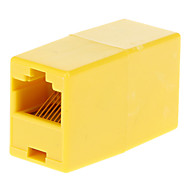 abordables €0.99-RJ45 hembra a hembra adaptador amarillo