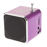 Portable 45mm Drives Unit USB and Micro SD/TF Metal Speaker with Stereo FM Radio Function for iPhone and Others (Assorted Colors)