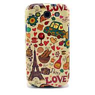 Эйфелева башня и Хлеб Глянцевая чехол для ТПУ Samsung Galaxy S3 I9300