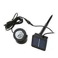 お買い得  LED スポットライト-6-LEDクールホワイトライトは防水屋外ソーラーLEDスポットライトLEDランプ