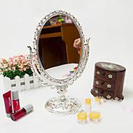 お買い得  浴室用小物-卓上鏡 金属 楕円形, 高品質 ミラー 20.6*5.0*31.5 cm