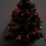billiga LED-ljusslingor-10m Ljusslingor 100 lysdioder Röd