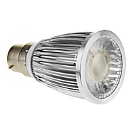 B22 5W 1xCOB 420-450lm 6000-6500K Super White Light Spot LED Bulb (85-265V)