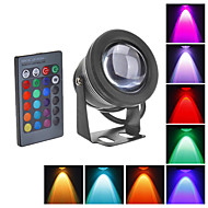 abordables Focos LED-Focos LED Luces Bajo el Agua 800 lm RGB K Impermeable DC 12 V