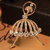 זול -בגדי ריקוד נשים קריסטל אופנתי סִכָּה תכשיטים מוזהב עבור חתונה Party יומי
