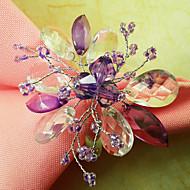 Σετ 12 Χαριτωμένη Floral Ακρυλικές Χάντρες πετσέτα Ring, Dia4.2-4,5 εκατοστά