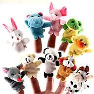 abordables Muñecas y Peluches-Cuentos para niños Animal Marionetas de dedo Marionetas Bonito Encantador Dibujos Textil Silicona Felpa Chica Juguet Regalo 10 pcs
