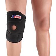 膝用サポーター スポーツサポート 保護 フィットネス / ランニング 黒フェード