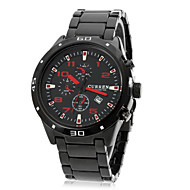 cheap Dress Watches-CURREN Men's Wrist Watch Calendar / date / day Stainless Steel Band Charm / Fashion Black